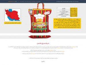 طراحی سایت برنج محسن